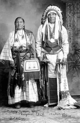 Henry Roman Nose & Wife