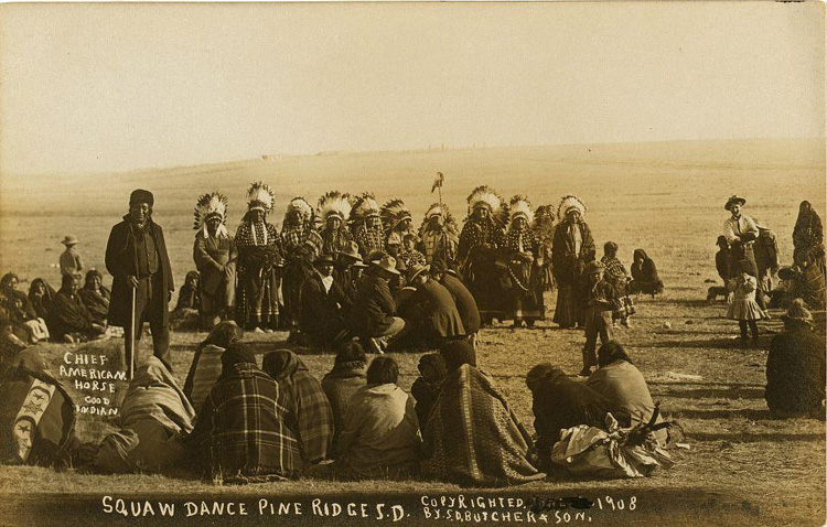 """Squaw Dance,"" Pine Ridge, 1908"