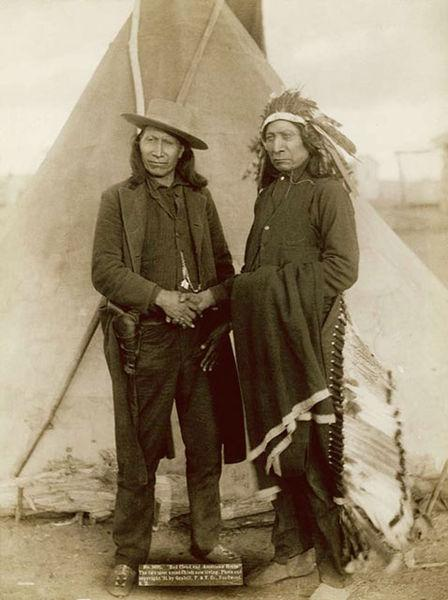 American Horse and Red Cloud, 1890 or 1891