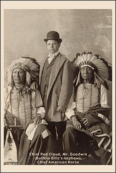 Mr Goodwin standing between Red Cloud and American Horse